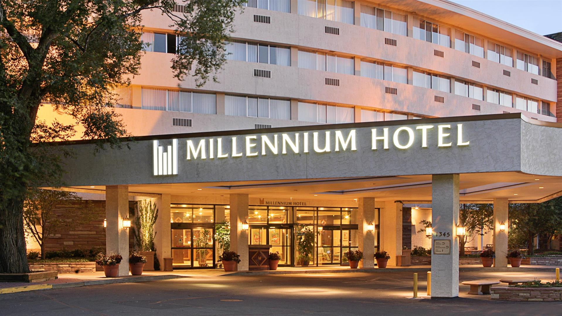 image of front of Millennium Hotel in Boulder, CO